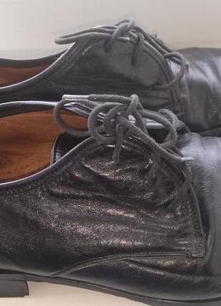Мужские натуральные кожанные черные  туфли franco barsony 43 р