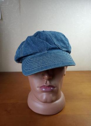 Кепка джинсовая кепи