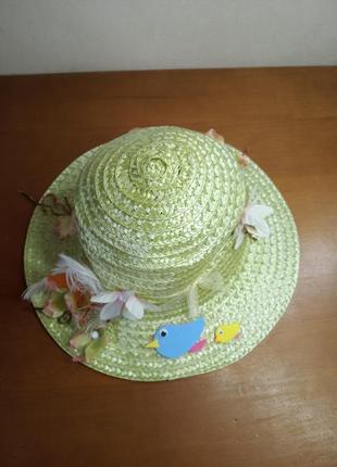 Шляпка соломенная для девочки