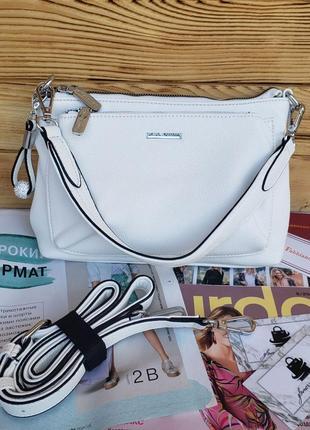 Женская стильная сумка через на плечо velina fabbiano белая жіноча стильна