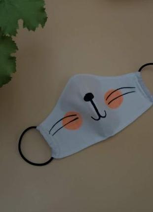 Защитная маска для лица из хлопка