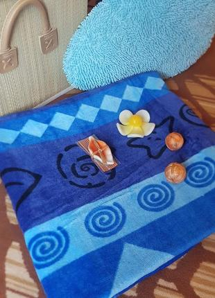 """Пляжное полотенце """"бриз"""", 100% хлопок"""