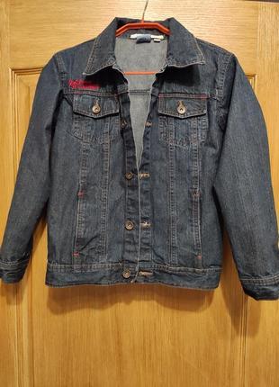 Tom tino подростковая джинсовая куртка, пиджак, джинсовка на рост 134/140
