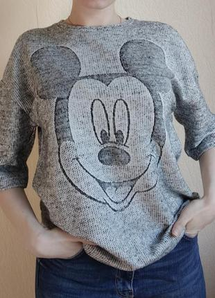 Zara mickey mouse футболка кофта лонгслів лонгслив