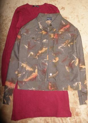 Хлопковый жакет пиджак короткая легкая летняя куртка mills в милитари стиле