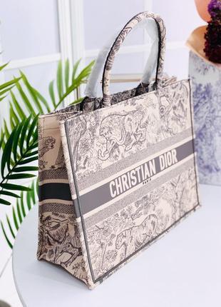 Dior шоппер холст сумка безупречное качество