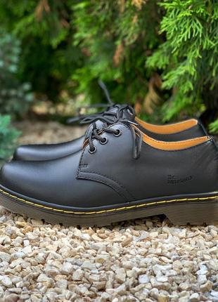Туфли dr. martens 1461 black, кожаные туфли унисекс