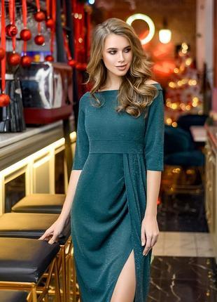 Интересное блестящее платье