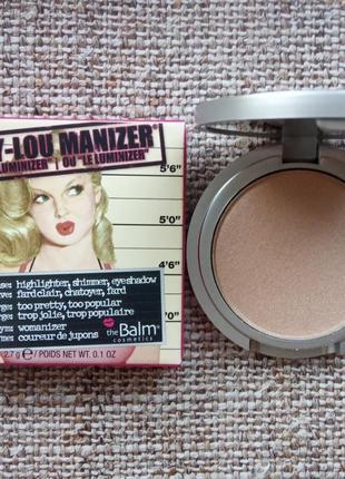 Хайлайтер thebalm manizers mary-lou manizer (мини) 2,7г, хайлайтер мери лу, the balm