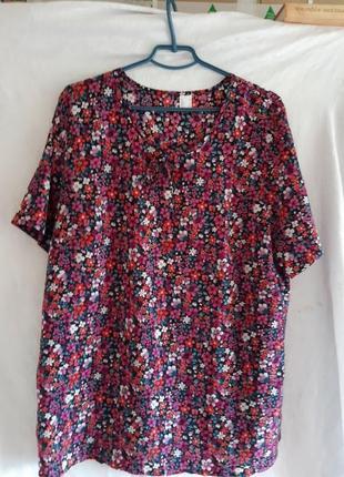 Блузка нарядная большого размера 58