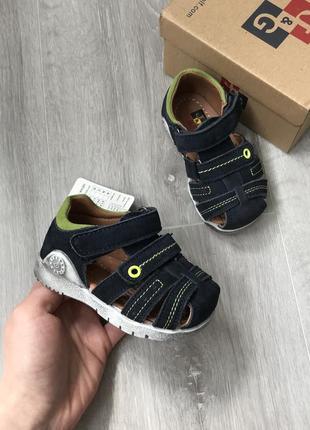 Босоножки сандали кожаные 19-24 р темно синие