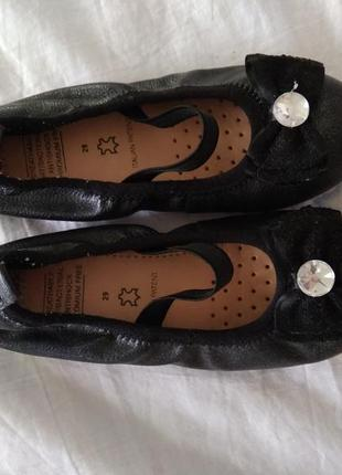 Кожаные туфли-лодочки geox кожа