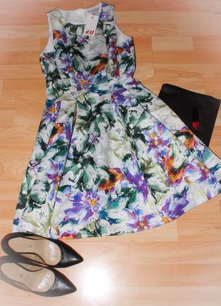Пишна квіткова сукня h&m