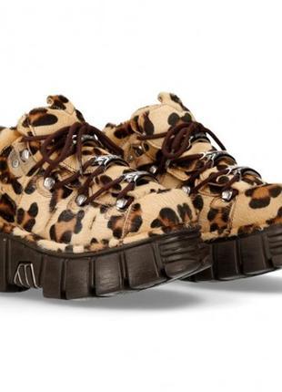 Ботинки леопард new rock лимитированные