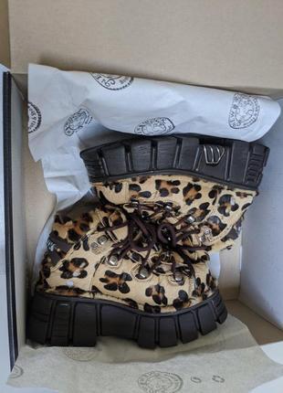 Ботинки леопард new rock лимитированные6 фото