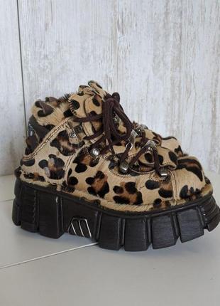 Ботинки леопард new rock лимитированные10 фото