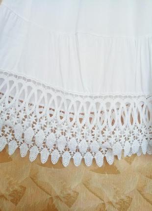 Нарядная белая блуза натурального качества.2 фото