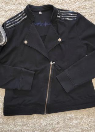 Трендовый котоновый пиджак косуха.