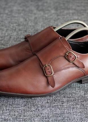 Туфлі монки asos нат шкіра