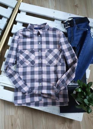 Крутая пудровая рубашка в клетку tom tailor 🖤