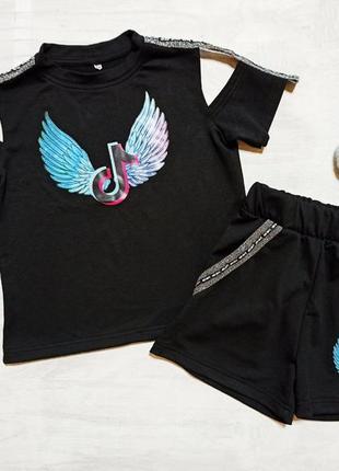 Летний костюм тик-ток с шортами для девочки , шорты тік-ток