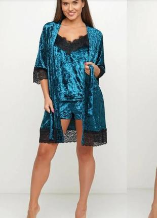 Комплект костюм велюровый пижама orli