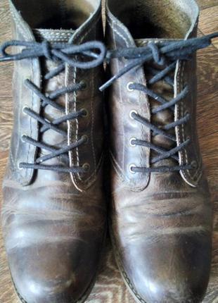 Кожаные ботинки timberland весна-осень
