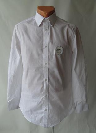 Белая рубашка george 14 1\2, 16 1\2