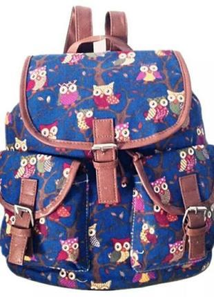 Стильный женский рюкзак с милыми совами