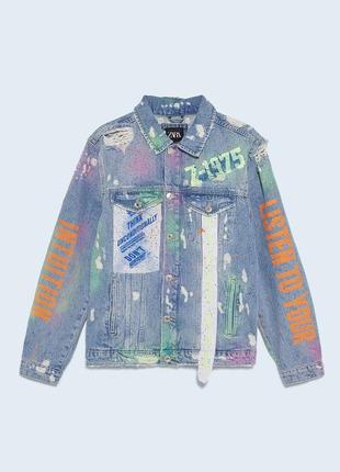 Новая женская джинсовая куртка zara s zara жіноча куртка s куртка zara