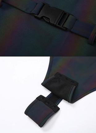 Рефлективный светоотражающий боди с поясом10 фото