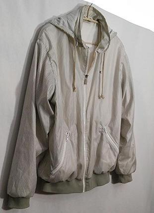 Lacoste, куртка ветровка в полоску на подкладке, made in france