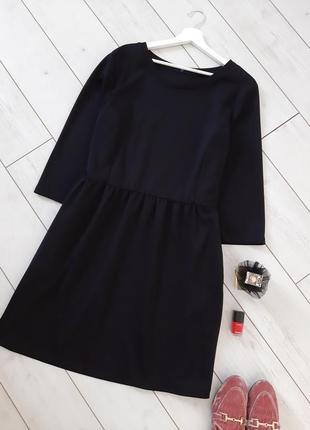 Базовое стильное миннималистическое платье_плотный трикотаж