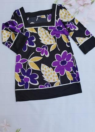 Очень красивая туника с цветами свободного кроя цветочный принт туніка квітковий узор