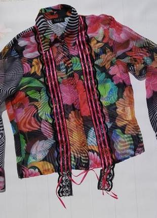 Роскошная нарядная шифоновая блуза блузка