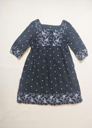Нарядное платье с вышивкой вышиванка h&m 9-12 лет
