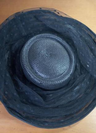 Шикарная шляпа капелюшок соломенная