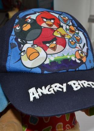 Блайзер кепка мальчику р.50-52 angry birds