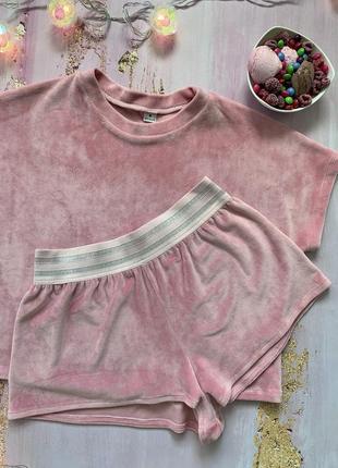 Красивый велюровый комплект домашний костюм велюровая пижама