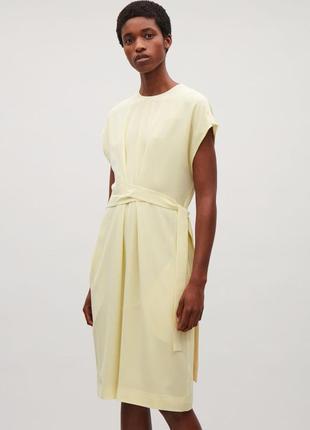 Шелковое платье cos р 34
