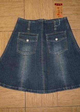 Юбка джинсовая с карманами р.s/m