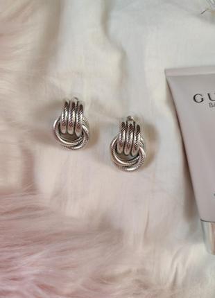 Cерьги серёжки винтаж винтажные ретро кольца под серебро новые качественные3 фото