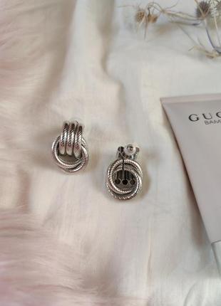 Cерьги серёжки винтаж винтажные ретро кольца под серебро новые качественные5 фото
