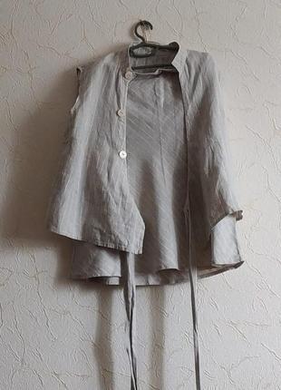 Льненой костюм