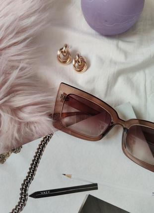 Очки окуляри солнцезащитные солнце имиджевые кофейные новые коллекция 2020