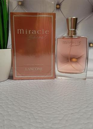 🔥оригинал🔥 100 мл lancome miracle secret парфюм нежнейший ,цветочный