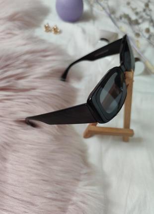 Очки окуляри винтажные стильные в стиле 90-х трендовые черные солнцезащитные новые7 фото