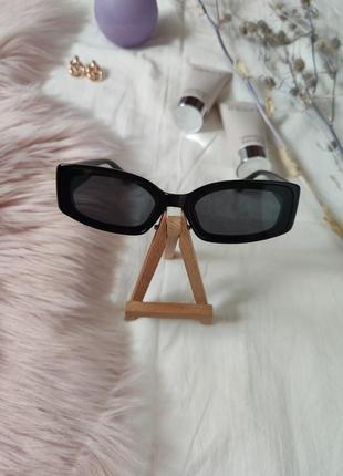 Очки окуляри винтажные стильные в стиле 90-х трендовые черные солнцезащитные новые5 фото