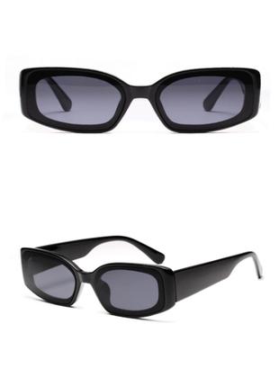 Очки окуляри винтажные стильные в стиле 90-х трендовые черные солнцезащитные новые8 фото