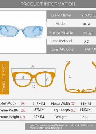 Очки окуляри винтажные стильные в стиле 90-х трендовые черные солнцезащитные новые9 фото